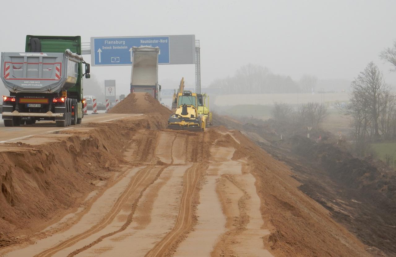 Bab a7 6 8 streifige erweiterung hamburg schleswig for Tunnel schnelsen